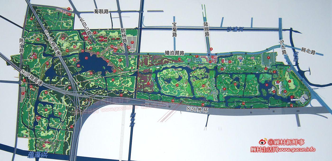 上海顾村公园一期和二期总地图